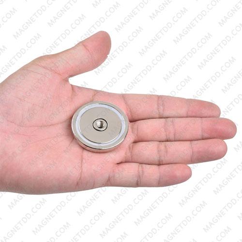 พอทแม็กเน็ตแรงสูง ขนาด 42mm x 8.8mm พร้อมเกลี่ยวใน M6 แม่เหล็กถาวรนีโอไดเมี่ยม NdFeB (Neodymium)