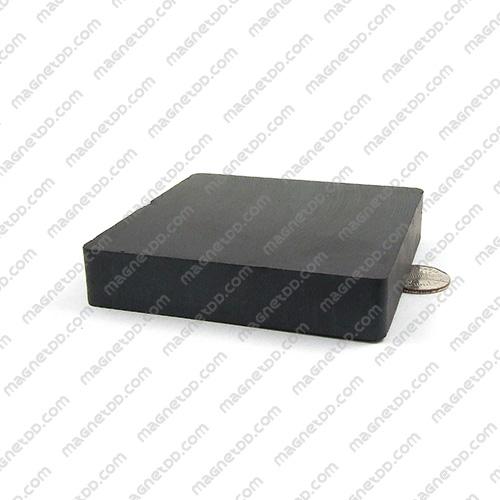 แม่เหล็กเฟอร์ไรท์ Ferrite ขนาด 100mm x 100mm x 20mm แม่เหล็กถาวรเฟอร์ไรท์ (แม่เหล็กดำ) Ferrite