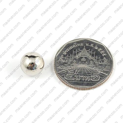 แม่เหล็กแรงสูงทรงกลม Neodymium Ball ขนาด 10mm แม่เหล็กถาวรนีโอไดเมี่ยม NdFeB (Neodymium)