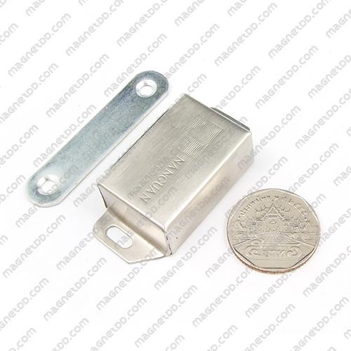 ชุดสลักสัมผัสแม่เหล็ก Nanguan สแตนเลส 36mm x 23mm x 14mm แม่เหล็กถาวรเฟอร์ไรท์ (แม่เหล็กดำ) Ferrite