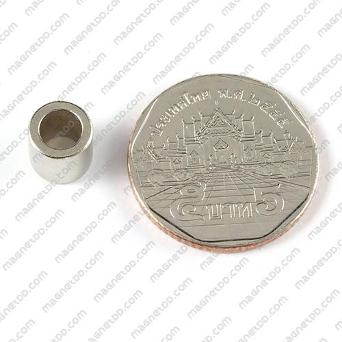 แม่เหล็กแรงสูง โดนัท Neodymium ขนาด 8mm x 8mm วงใน 5mm แม่เหล็กถาวรนีโอไดเมี่ยม NdFeB (Neodymium)