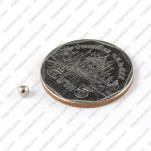 แม่เหล็กแรงสูงทรงกลม Neodymium Ball ขนาด 3mm แม่เหล็กถาวรนีโอไดเมี่ยม NdFeB (Neodymium)