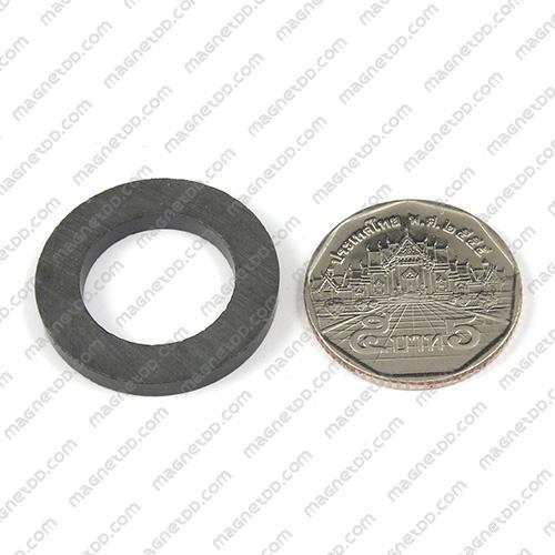 แม่เหล็กเฟอร์ไรท์ Ferrite ขนาด 27mm x 3mm วงใน 17mm แม่เหล็กถาวรเฟอร์ไรท์ (แม่เหล็กดำ) Ferrite