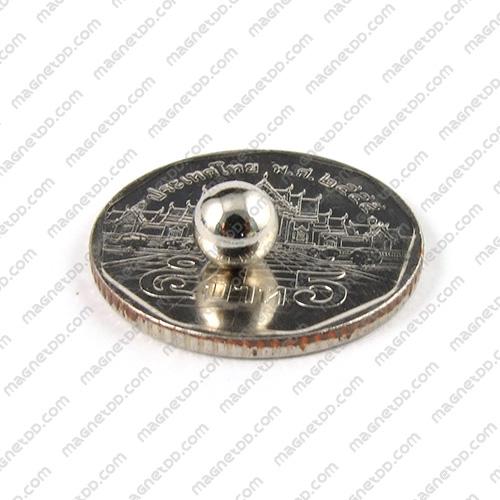 แม่เหล็กแรงสูงทรงกลม Neodymium Ball ขนาด 6mm แม่เหล็กถาวรนีโอไดเมี่ยม NdFeB (Neodymium)