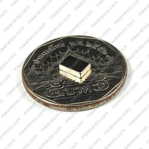 แม่เหล็กแรงสูง Neodymium ขนาด 6mm x 4mm x 1.5mm แม่เหล็กถาวรนีโอไดเมี่ยม NdFeB (Neodymium)