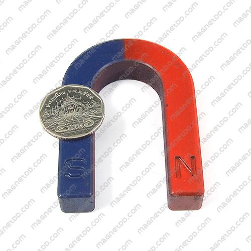 แม่เหล็กเกือกม้า Horseshoe Magnet 80mm x 60mm x 20mm แม่เหล็กถาวรเฟอร์ไรท์ (แม่เหล็กดำ) Ferrite