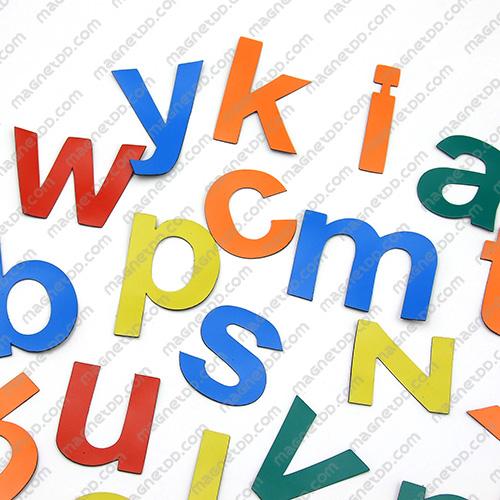 แม่เหล็กยาง ตัวอักษร อังกฤษพิมพ์เล็ก a-z ขนาด 38mm ชุด 26 ชิ้น - คละสี แม่เหล็กถาวรยาง Flexible Rubber Magnets