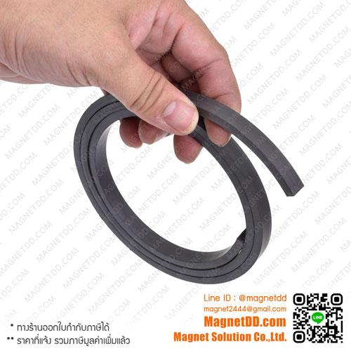 แม่เหล็กยาง ขนาด 10mm x 5mm ยาว 1เมตร แม่เหล็กถาวรยาง Flexible Rubber Magnets