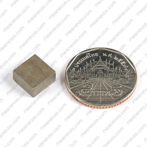 แม่เหล็กแรงสูงทนความร้อน Samarium ขนาด 10mm x 10mm x 5mm แม่เหล็กแรงสูง ทนความร้อน Samarium Cobalt 350C