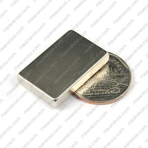 แม่เหล็กแรงสูง Neodymium ขนาด 30mm x 20mm x 5mm แม่เหล็กถาวรนีโอไดเมี่ยม NdFeB (Neodymium)