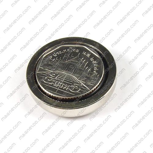 Neodymium Magnetic Cups ขนาด 32mm x 8mm รู 5mm แม่เหล็กถาวรนีโอไดเมี่ยม NdFeB (Neodymium)