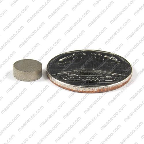 แม่เหล็กแรงสูงทนความร้อน Samarium ขนาด 8mm x 3mm แม่เหล็กแรงสูง ทนความร้อน Samarium Cobalt 350C
