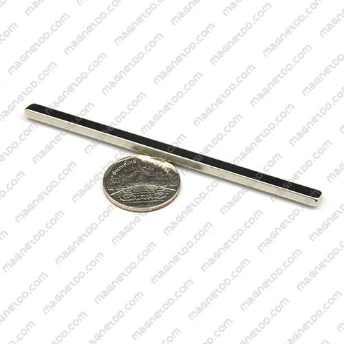 แม่เหล็กแรงสูง Neodymium ขนาด 100mm x 6mm x 3mm แม่เหล็กถาวรนีโอไดเมี่ยม NdFeB (Neodymium)