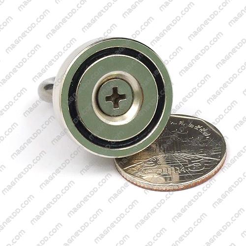 Mounting Magnet ขนาด 25mm พร้อมห่วง แม่เหล็กถาวรนีโอไดเมี่ยม NdFeB (Neodymium)