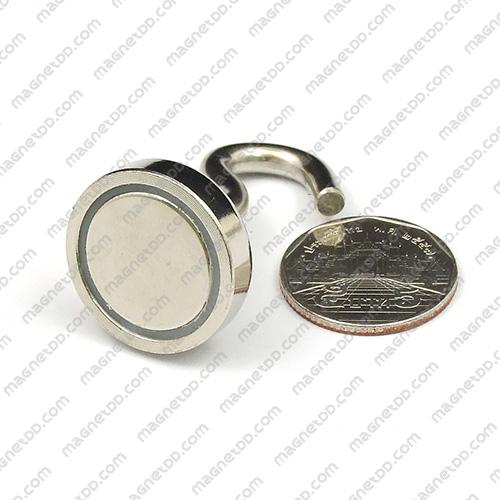ชุดตะขอแม่เหล็กสูง Neodymium ขนาด 25mm แม่เหล็กถาวรนีโอไดเมี่ยม NdFeB (Neodymium)